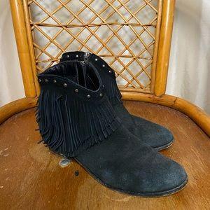 MINNETONKA fringe ankle boots